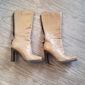 LEATHER CARAMEL BOOTS